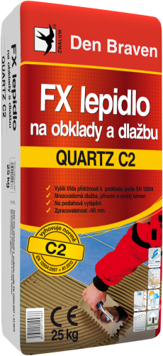 FX lepidlo naobklady adlažbu QUARTZ C2