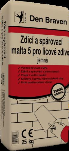Zdicí aspárovací malta 5 pro lícové zdivo